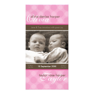 TWINS PHOTO BIRTH ANNOUNCEMENT :: harmony 6P