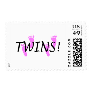 Twins (Pink Feet) Postage Stamp