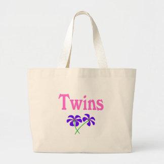 Twins (Pink) Large Tote Bag