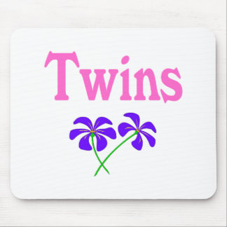 Twins (Pink) Mouse Pad