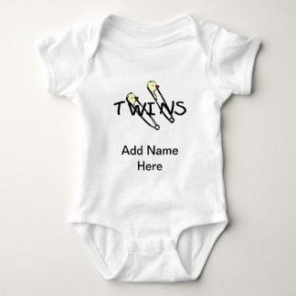 Twins (Pins) Baby Bodysuit