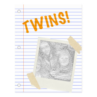 twins! POLAROID Postcard