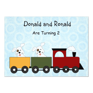 Twins (Puppies) Birthday Party Invitations