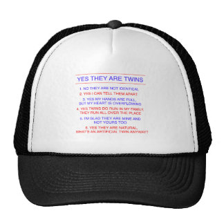 Twins Questions Fraternal Mesh Hat