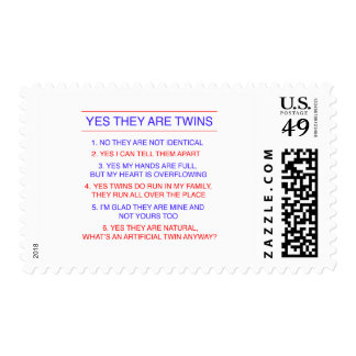 Twins Questions Fraternal Stamp