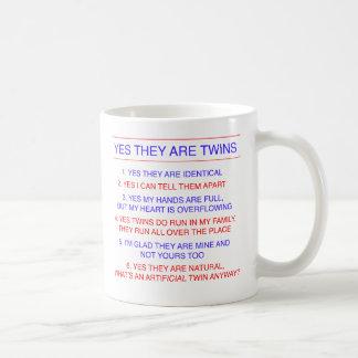 Twins Questions Identical Coffee Mug