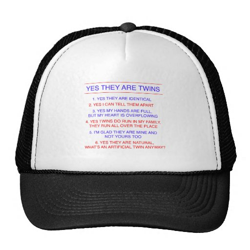 Twins Questions Identical Trucker Hat