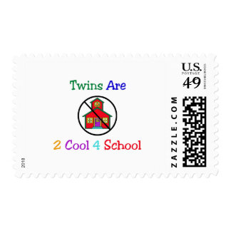 Twins R 2 Cool 4 School Postage