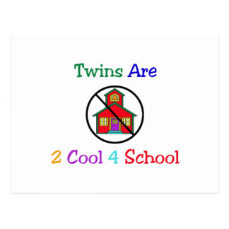 Twins R 2 Cool 4 School Postcard