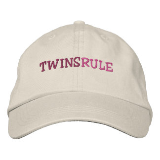 TWINS RULE EMBROIDERED BASEBALL HAT