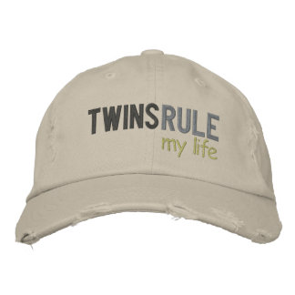 TWINS RULE my life Embroidered Baseball Hat