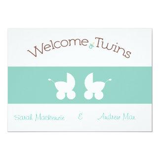 Twins Shower Invitation