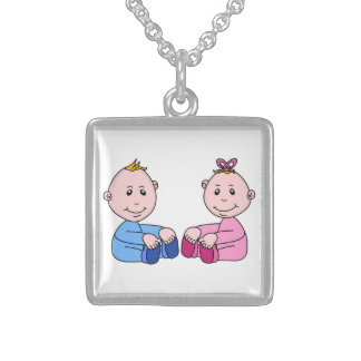 TWINS STERLING SILVER NECKLACE
