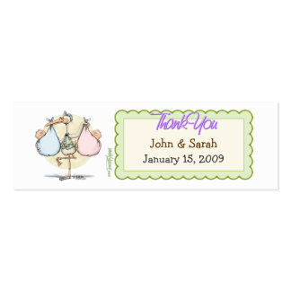 Twins Stork Favor Tag Mini Business Card