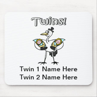 Twins (Stork) Mouse Pad