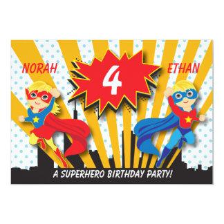 Twins Superhero Birthday  |  Blonde Card