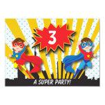 Twins Superhero Birthday Invites