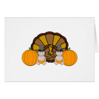Twins Thanksgiving Graphic Card