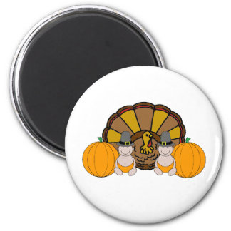 Twins Thanksgiving Graphic Magnet