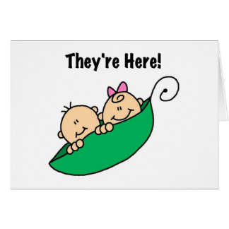 Twins They're Here Card