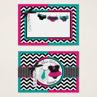Twins Tie Tutu Diaper Clothesline Business Card