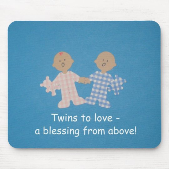 Twins to love mouse pad