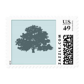 Twins Tree of Life Bar Bat Mitzvah Blue Stamp