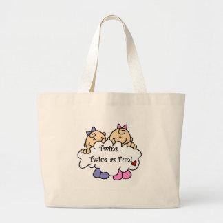 Twins Twice as Fun Tote Bags