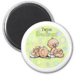 Twins - Twice the Blessings 2 Inch Round Magnet