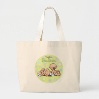 Twins - Twice the Blessings Jumbo Tote Bag