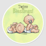 Twins - Twice the Blessings Round Sticker