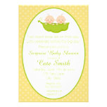 Twins Two Peas in a Pod Baby Shower Invitation Custom Announcements