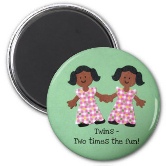 Twins - two times the fun! magnet