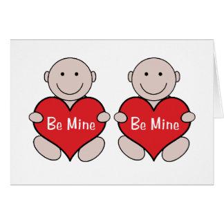 Twins Valentine Graphic Card