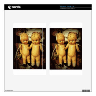 Twins Vintage Dolls Decal For Kindle Fire