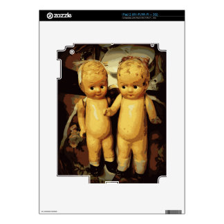 Twins Vintage Dolls Decal For The iPad 2