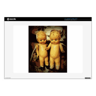 Twins Vintage Dolls Decals For Laptops