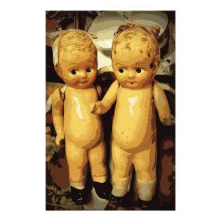 Twins Vintage Dolls Stationery