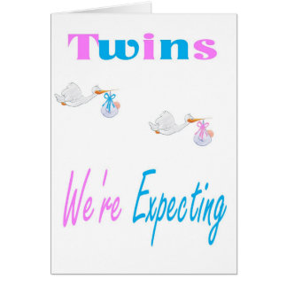 Twins We're Expecting Announcement Card