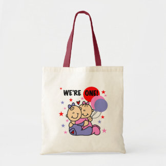 Twins We're One Birthday Tshirts and Gifts Bag
