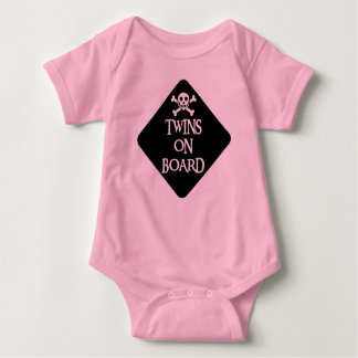 TWINSONBOARDBLK BABY BODYSUIT