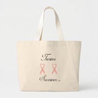 TwinsSurvivorGirlGirl2 Bolsa Tela Grande