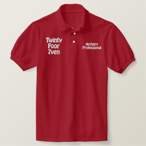 Twinty Foor 7ven - Archery Embroidered Polo Shirt