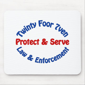 Twinty Foor 7ven Law Enforcement Mouse Pad