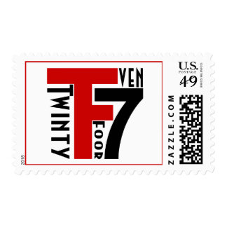 Twinty Foor 7ven Postage Stamp