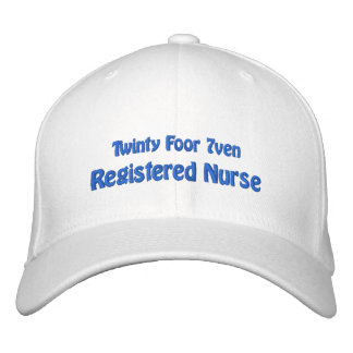 Twinty Foor 7ven/Registered Nurse Embroidered Baseball Cap