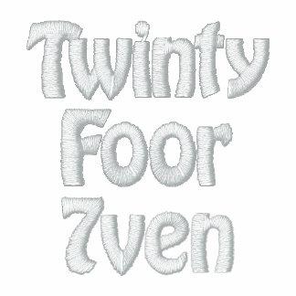 Twinty Foor 7ven S.U.O Sudadera Bordada Con Cremallera