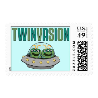 TWINVASION Alien Twins Postage Stamps