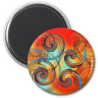 Twirl 2 Inch Round Magnet