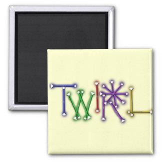 Twirl 2 Inch Square Magnet